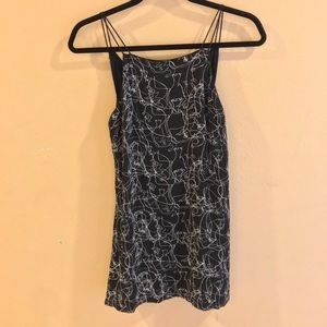 Silence + Noise Abstract Casual Dress